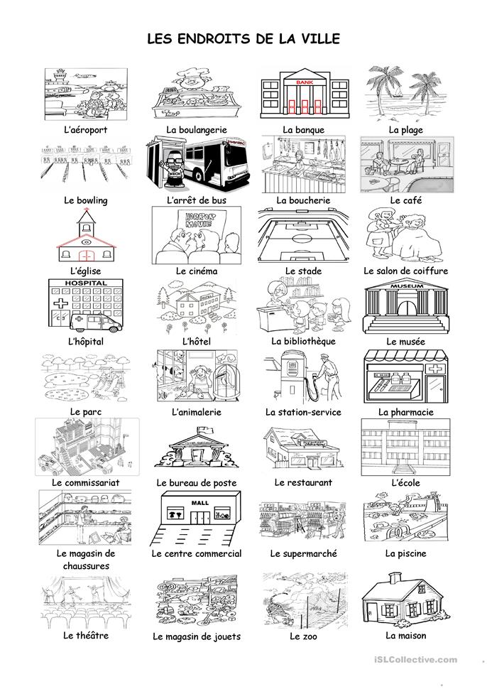 places in town coloring pages - photo#17