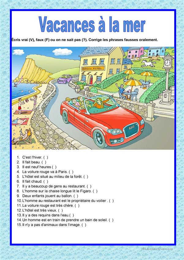 Description image - Vacances à la mer